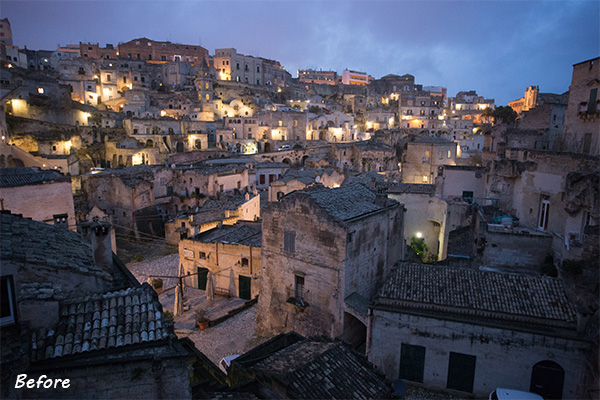Matera Before The Lightroom Develop System