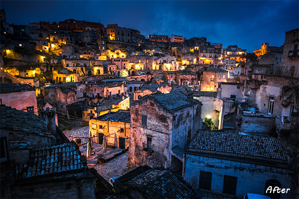 Matera After The Lightroom Develop System