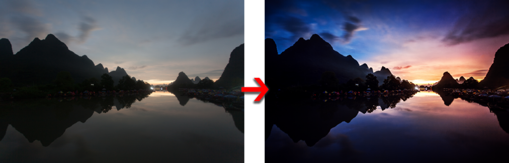 Before and After the Landscapes Masterclass Workflow