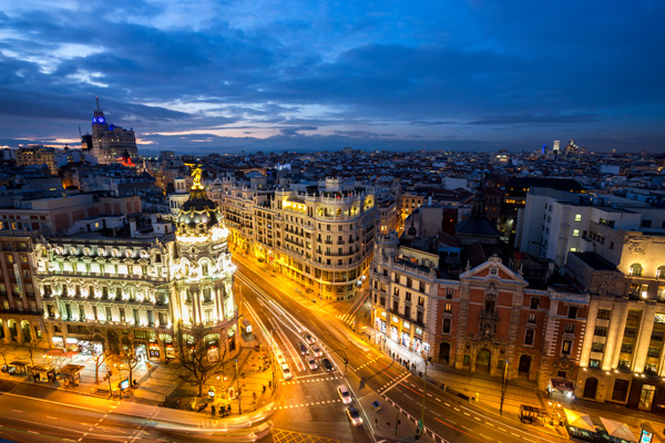 Blue Hour in Madrid