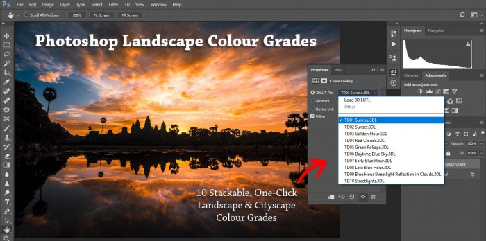 Photoshop Landscape Colour Grades