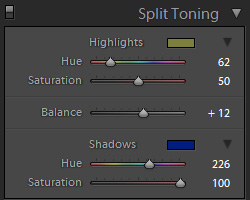 Using Split-Toning to recover white balance