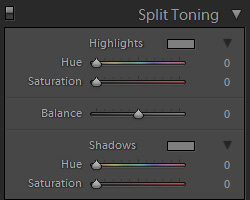 The default for split-toning