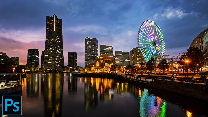 Merge DULL Blue Hour & Sunset Exposures to Make AMAZING Cityscapes