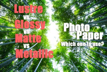 Lustre vs Glossy vs Matte vs Metallic Photo Paper