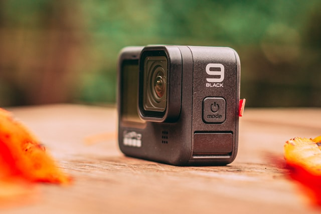 The GoPro Hero 9, with strong 120 fps in 2.7K for slow motion videos.