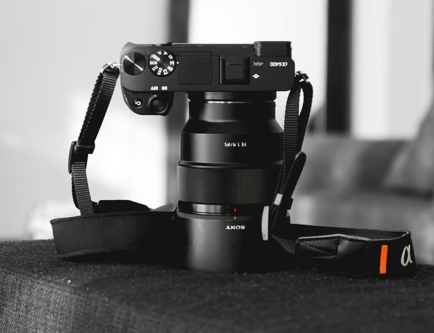 The Sony a6400, with 4K video recording capabilities.