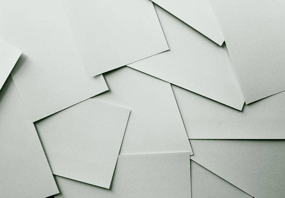 Assorted cardstock ready for printing