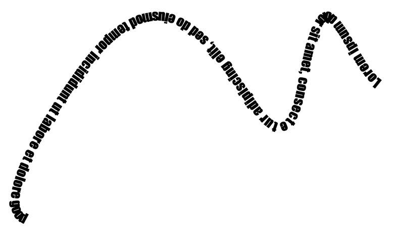 custom shape writing