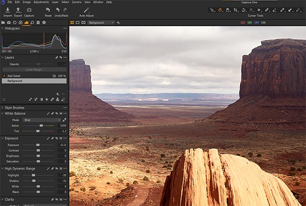 Capture One RAW Processing