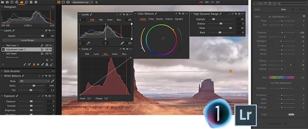 Capture One and Lightroom Filters